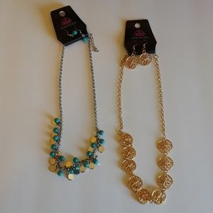 Paparazzi bundle 2 necklaces & earrings
